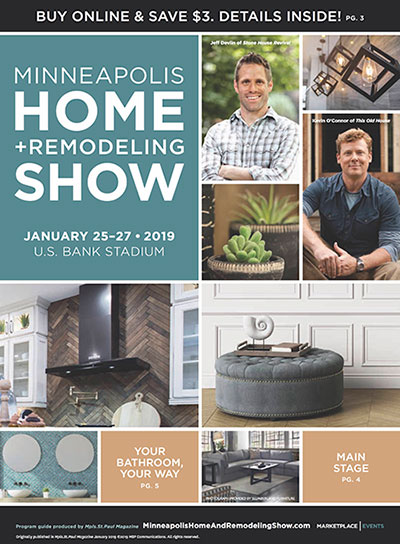 show guide cover for the 2019 Minneapolis Home + Remodeling Show