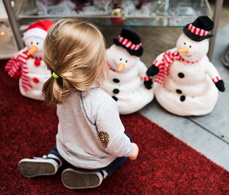 Child & Snowmen