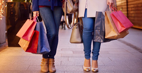 ladies with shopping bags