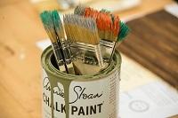 Paintbrushes chalk paint