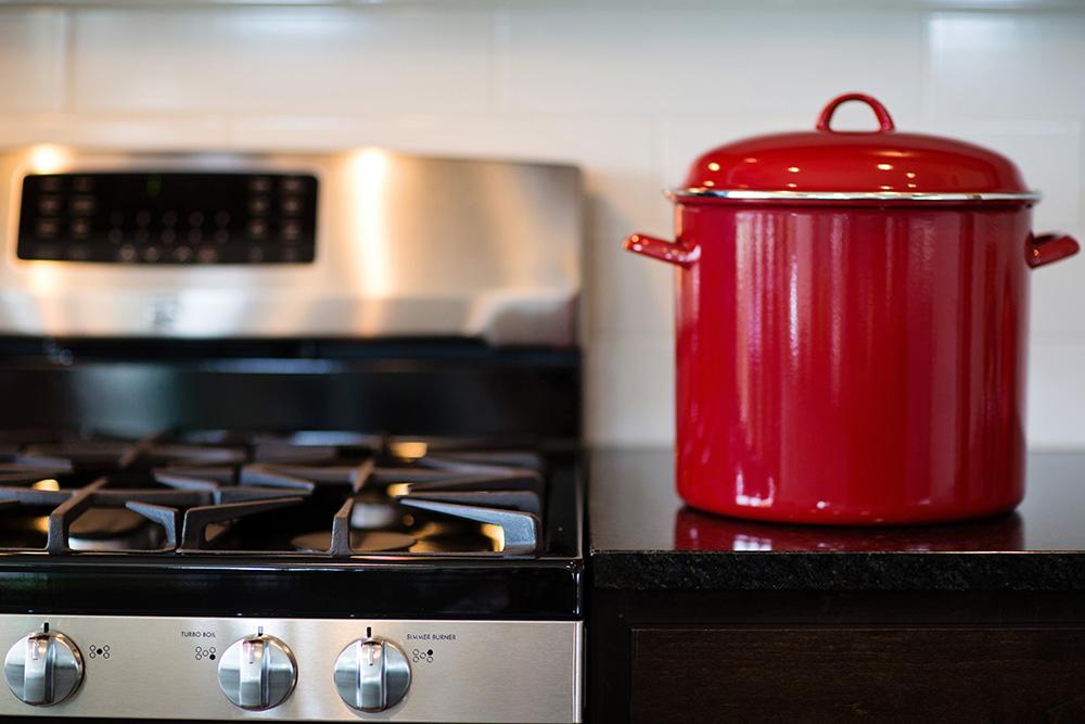 Stove Top & Red Pot