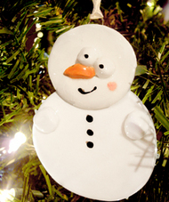 Crafted snowman ornament