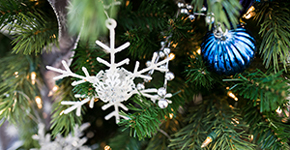 blue tree ornament