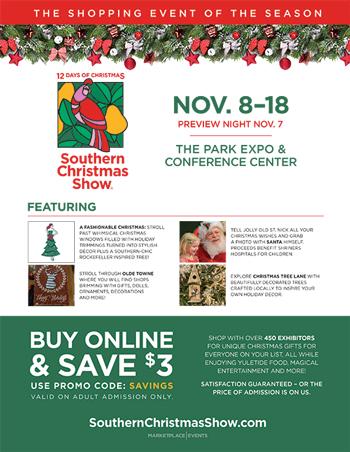 southern christmas show poster