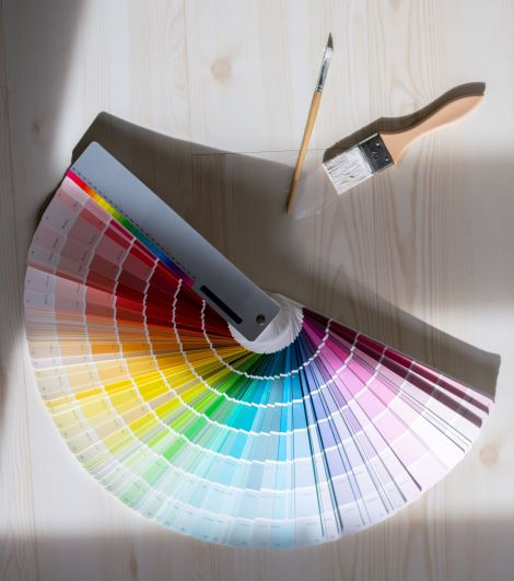 Color Swatches and Paintbrush