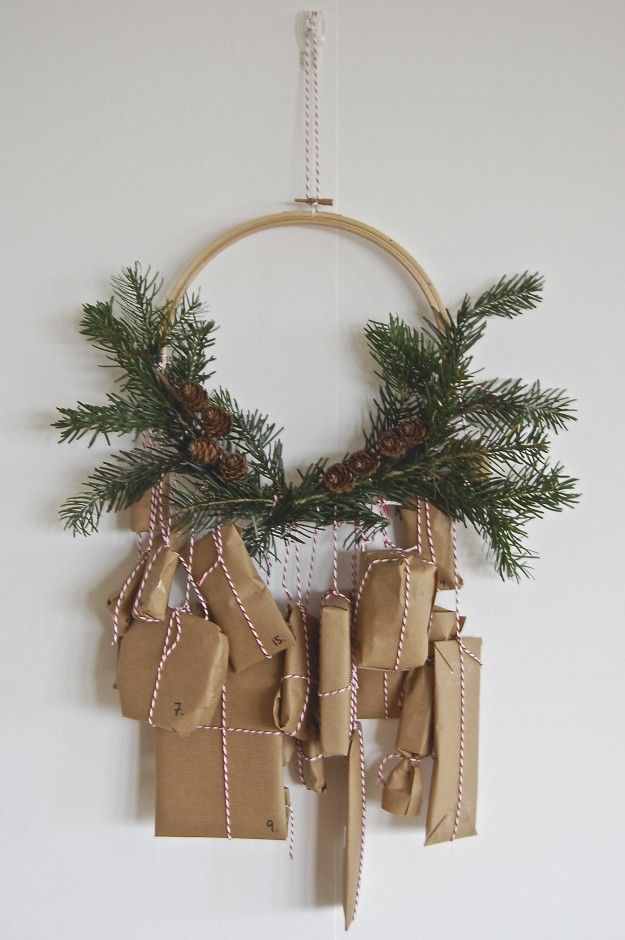 Wreath shaped Advent calendar