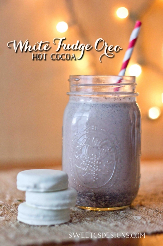 White Oreo Fudge Hot Chocolate