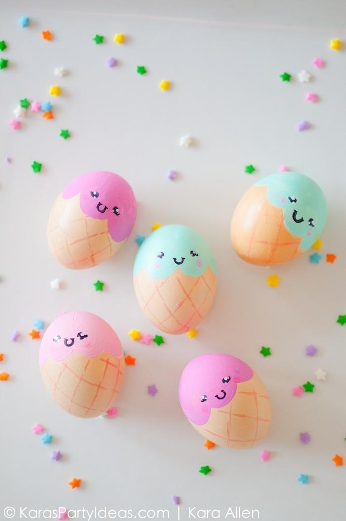 Ice Cream Eggs from Karas Party Ideas