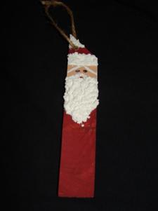 Wooden Santa Ornament