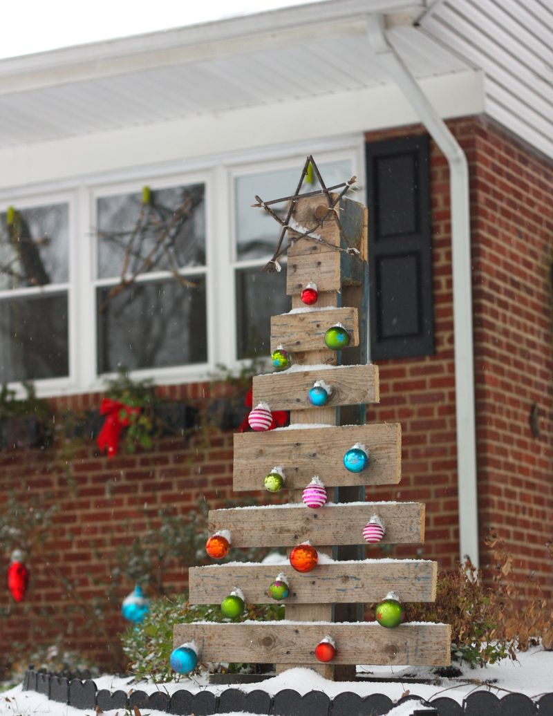 Christmas Tree made of Pallets