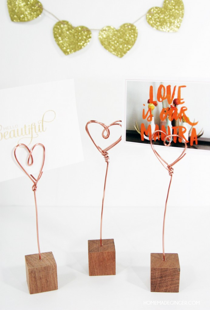 Photo Holders from Homemade Ginger