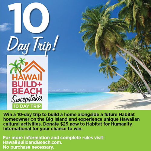 Hawaii Build + Beach Sweepstakes Logo