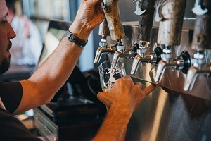 photo of beer pouring
