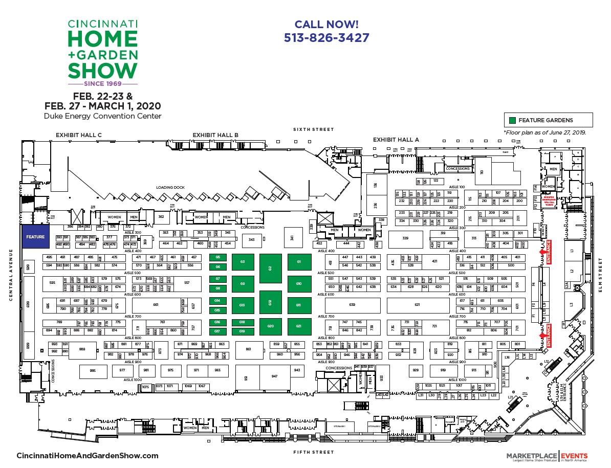 Buffalo Home And Garden Show 2020.Floor Plan Exhibitor Rates Contract For The Cincinnati