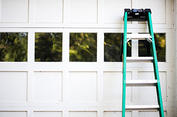 Ladder-garage-door