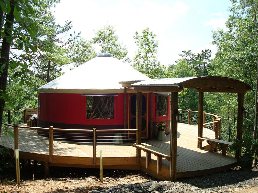 Red yurt