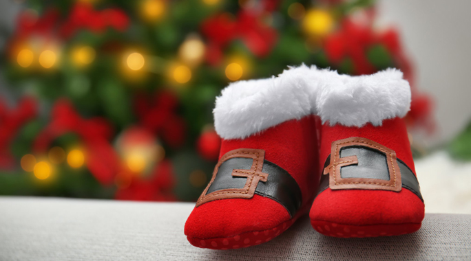 Red Santa boots