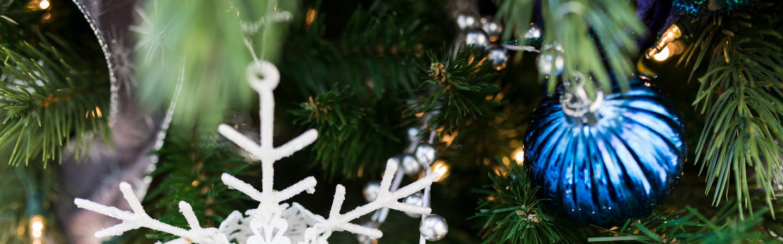 Blue Christmas tree ornament