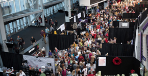Holiday boutique exhibitors and shoppers