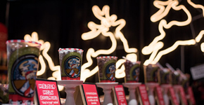 Holiday Boutique items; reindeer lights and candles